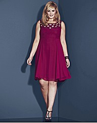 Rise Sharee Beaded Skater Dress