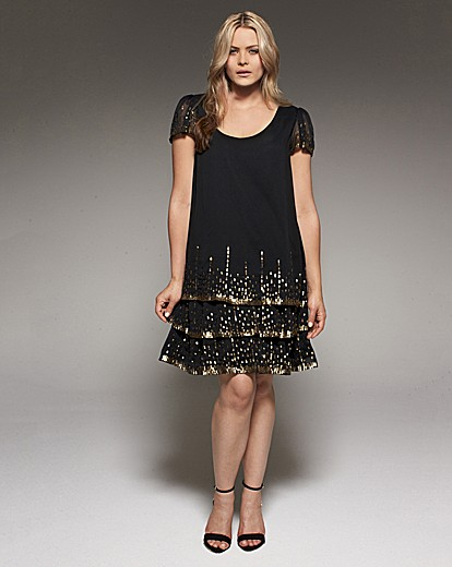 Project D London Buckingham Sequin Party Dress