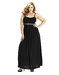 Lovedrobe Stud Trim Maxi Dress