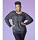 Grazia Fluffy Knitted Metallic Jumper