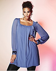 Grazia Cuff Detail Tunic Top