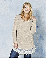 Angel Ribbons Casey Lace Trim Jumper
