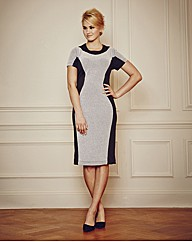 Luxe Illusion Contrast Panel Dress