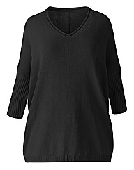 Jeffrey & Paula V Neck Slouchy Jumper