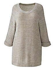 Jeffrey & Paula Metallic Knit Jumper