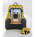 JCB Shaped Backpack and Pull Back Toy