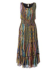 Joe Browns Printed Tiered Maxi Dress