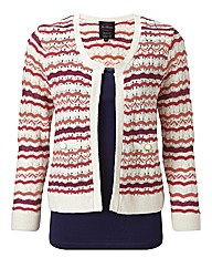 Joe Browns Perfect Pintelle Stripe Cardi