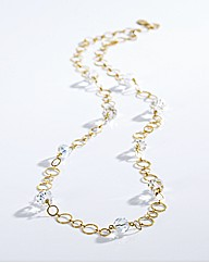 Adele Marie Long Ring Necklace