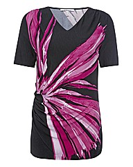 Steilmann Abstract Flower V-neck Top