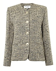 Anise Collarless Tweed Jacket