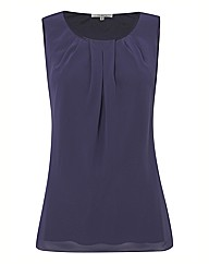 Chesca Satin Trim Sleeveless Top