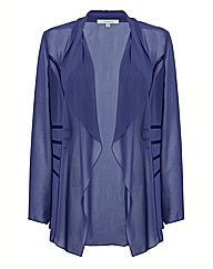 Chesca Satin Trim Waterfall Jacket