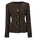 Gray & Osbourn Tweed Collarless Jacket