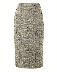 Anise Tweed Pencil Skirt