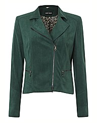 Gerry Weber Mock Suede Zip Up Jacket