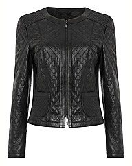 Gerry Weber Leather Zip Up Jacket
