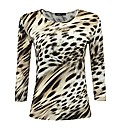 Frank Walder Animal Print Jersey Top