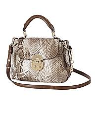 Gabriella Snake Effect Clasp Bag