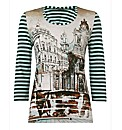Taifun Architecture Print Top