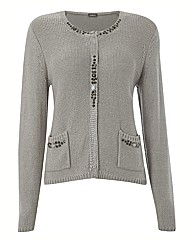 Gelco Bead Trim Knit Cardigan