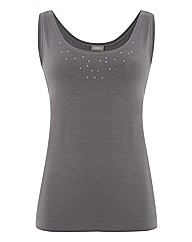 Gelco Diamante Jersey Vest Top