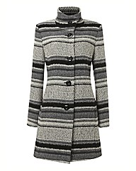 Gelco Tweed Button Up Coat
