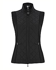 Betty Barclay Quilted Zip Up Gilet