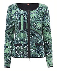 Olsen Paisley Print Quilted Jacket