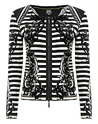 Olsen Stripe Jersey Jacket With Flocking