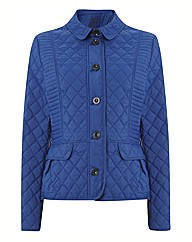Olsen Short Quilted Button Up Coat