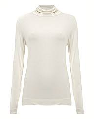 Passport Jersey Polo Neck Top