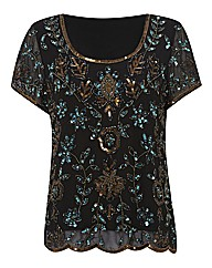 Gray & Osbourn Beaded Chiffon Top