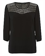 Betty Barclay Cut Out Chiffon Blouse