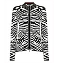 Betty Barclay Zebra Print Zip Cardigan