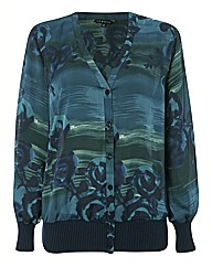 Chesca Satin Based Floral Print Blouse