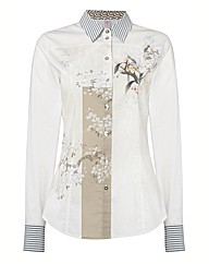 Basler Floral Placement Print Shirt
