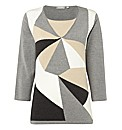 Rabe Geometric Colour Block Jumper