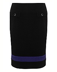 Frank Walder Texture Jersey Pencil Skirt