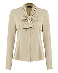 Frank Walder Long Sleeve Satin Blouse