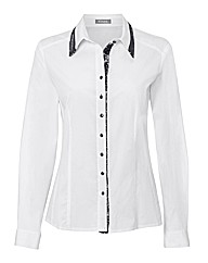 Rabe Cotton Sequin Trim Shirt