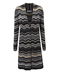 Steilmann Textured Multi Stripe Cardigan