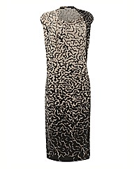 Chesca Print Cowl Neck Jersey Dress