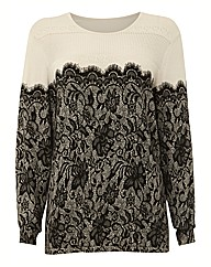 Chesca Lace Print Knit Jumper
