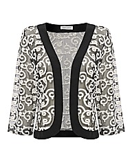 Gray & Osbourn Mesh Embroidered Cardigan