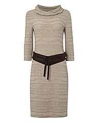 Apanage Textured Jersey Cascade Dress