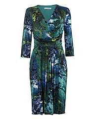 Gina Bacconi Multi Printed Jersey Dress
