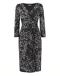 Gina Bacconi Lace Print Dress