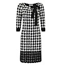 Apanage Houndstooth Print Jersey Dress