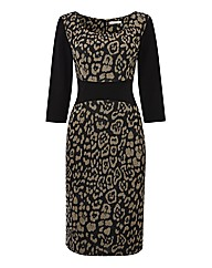 Gina Bacconi Jersey Jacquard Dress